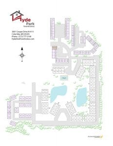 Hyde Park Townhomes site map